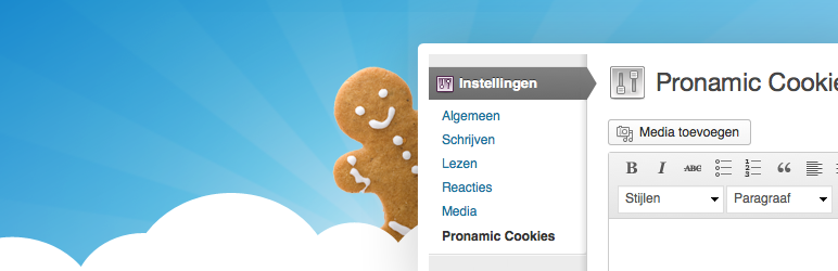 Pronamic Cookies Header