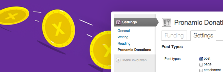 Pronamic Donations Banner