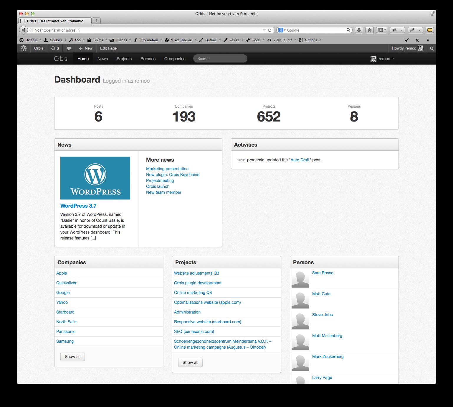 Orbis - Bootstrap 3