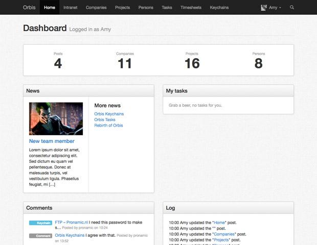 Orbis dashboard