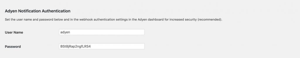 WordPress Adyen Notification Authentication